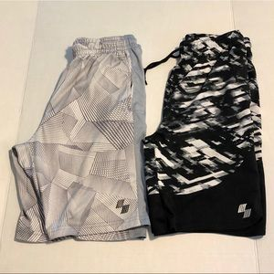 CP lot of two athletic shorts large 10 12 black